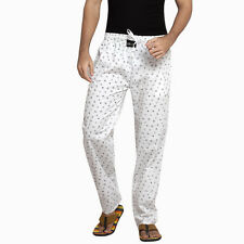 London Bee Mens Casual Printed Cotton White Color Pyjama MPLB0068