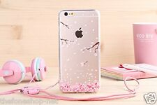Flower Design Transparent Soft tpu Back Cover Case For Apple iPhone 5, 6, 6 Plus