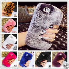 Premium Rabbit Fur Rex Hard shell Back Cover Case For Iphone 5, 6,6 Plus, Note 4
