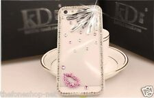 Swarovski Diamond Lips Design hard back cover case for Apple iPhone5, 6, 6 Plus