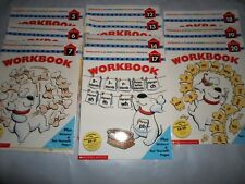 SCHOLASTIC AT-HOME SCHOOL PHONICS LEARN TO READ READERS PROGRAM WORKBOOK BOOKS