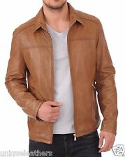 100% Genuine Lambskin Leather Designer Biker Jacket Blazer Men's - #WLJ08