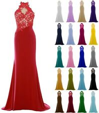 Sexy New Chiffon Long Beaded Bridesmaid Dress Club Prom Party Evening Ball Gowns