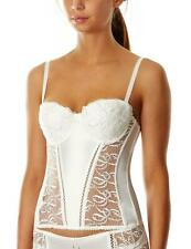 LEPEL Bouquet Basque Removable Straps Ivory With Suspenders 30-34 B-DD