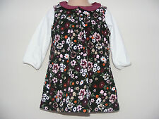 George Lovely baby girls Corduroy floral dress Cotton Age 6-9 Months NEW