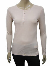 Womens Zara T-Shirt Long Sleeve Top Light Pink Size 8 to 12 Ladies A35