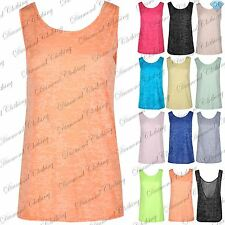 Womens Summer Vest Top New Ladies Sleeveless Blouse Casual Tank Tops T Shirt
