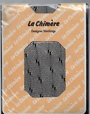 La Chimere Stockings Black Nylon Fishnet Vintage