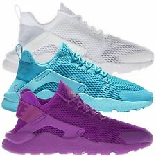 Nike Women's Air Huarache Run Ultra Low Top Running Sports White Purple Trainers