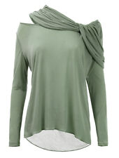 VANESSA KNOX @ ISABELLA OLIVER MATERNITY LONG SLEEVE SCARF BLOUSE TOP RRP £135