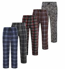 New Mens PJs Lounge Wear Pyjama Fleece Warm Bottoms Pants Trousers Cosy Soft