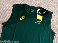 S M L XL XXL 3XL SPRINGBOKS ASICS RUGBY VEST SINGLET SHIRT New SOUTH AFRICA Tags