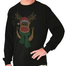 Funny Christmas Ugly Sweater Reindeer Santa Funny Gift Ideas Long Sleeve Tee