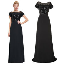 New Women Sexy Long Sequins Dress Party Cocktail Prom Formal Evening Ball Gowns