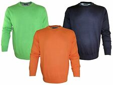 *NEU*  BEN GREEN HERREN R-NECK PULLOVER Gr. M - 3 XL - KIWI-ORANGE-DUNKELBLAU