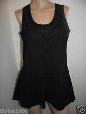 NEXT TAILORED BLACK STUDDED SKIRT TUNIC DRESS SIZE 10 NWT