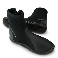 Legacy 5mm Wetsuit Boots & Zip Watersports Shoe Surf Kayk Sailing Dive Size 5-12