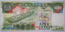 Rare Vintage $500 SINGAPORE A1 Ship Series Old Bank Notes Still Legal Tender