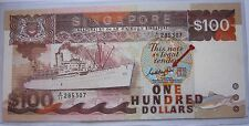 Rare $100 SHIP Series A1 SINGAPORE Old Bank Notes Signed by GOH KENG SWEE