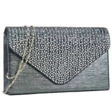 New Dasein Women Crossbody Day Bag Evening Clutch Wallet Purse w/ Rhinestone