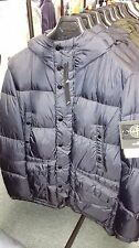 Stone Island Crinckle Reps NY Down Hooded Jacket In Navy BNWT