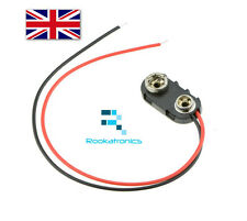 9V Battery Connector Holder 15cm Wire leads Hard Case -High Quality Free Postage