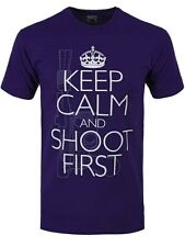 Keep Calm & Shoot First Männer T-Shirt lila