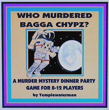 HOST A SCI-FI 23rd CENTURY MURDER MYSTERY DINNER PARTY GAME ~ for 8-12 players