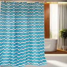 180×180CM Simple American Polyester Waterproof Bath Fabric Shower Curtain Hooks