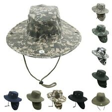 Boonie Fishing Hiking Military Snap Brim Neck Cover Cowboy Hat Bucket Flap Cap