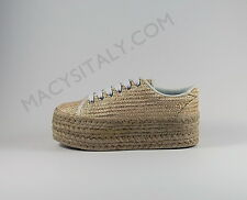 JEFFREY CAMPBELL TENNIS ZOMG JUTE MESH GOLD ORIGINALI