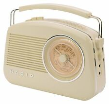 KONIG CREAM RETRO DINER STYLE DIGITAL RADIO PLAYER WITH AUX INPUT MODE DAB +