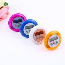New Cute Mini Round LCD Digital Cooking Home Kitchen Countdown UP Timer Alarm WL