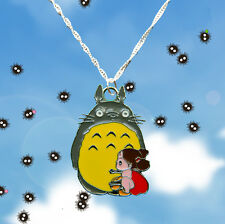 My Neighbor Totoro Studio Ghibli Sterling Silver Necklace With Totoro & Mei