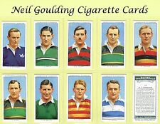 Churchman - Rugby Internationals 1935 #1 to #50 Cigarette Cards