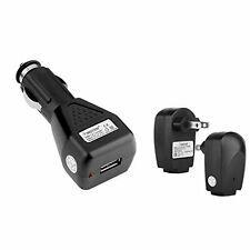 GTMax USB Car Charger + USB Home Travel Charger for Sprint HTC Evo 4G