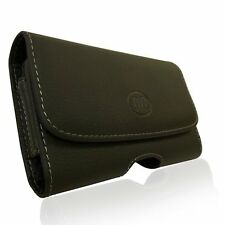 Horizontal Sideways Leather Belt Clip Case Cover Pouch Holster for BlackBerry Z1