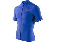 X-BIONIC®: The Trick® Biking Shirt Short Sleeves Full Zip Royal Blue/Black