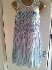 BNWT CUTIE blue with black spotted top laced dress size M/L approx size 12