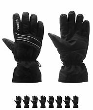 MODA Reusch Snow King Ski Guanti Uomo Black/White
