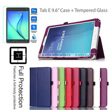 "Samsung Galaxy Tab Tablet Leather Flip Stand Case Cover For Tab E 9.6"" T560 T561"