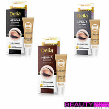 DELIA Cream Henna For Eyebrow Tint Kit 15ml CHOOSE SHADE DL001