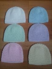 Hand Crochet New Born Baby Hats/Beanies