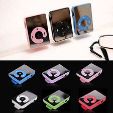Fashion 6Colors Mirror Clip USB Digital Mp3 Music Player Support 16GB SD TF Card