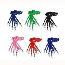 10Pcs Neck Strap Lanyard Holder String For Office ID Card Key Metal Clasp 6Color