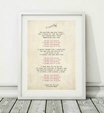 233 Louisa Mark - Caught You In A Lie - Song Lyric Poster Print - Sizes A4 A3