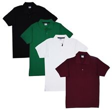 Fleximaa Men's Cotton Polo Collar T-Shirts With Pocket (Pack of 4 T-Shirts)