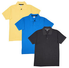Fleximaa Men's Cotton Polo Collar T-Shirts With Pocket (Pack of 3 T-Shirts)