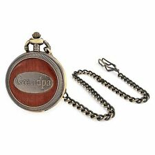 Christmas Gifts Antique Style Gold Plated Grandpa Grandfather Mens Pocket Watch