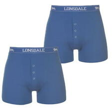 MENS BRIGHT BLUE 2 PACK LONSDALE BOXER SHORTS UNDERWEAR  S M L XL XXL XXXL XXXXL